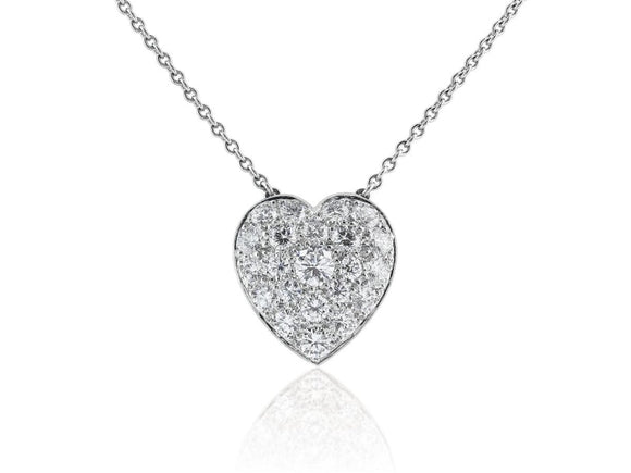 2.00 Carat Heart Shape Diamond Pendant Necklace (Platinum) - Jewelry Boston
