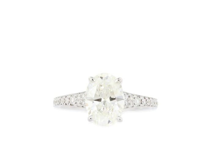 2.02ct Oval Cut Diamond Solitaire Ring (GIA H/VS2 White Gold) - ENGAGEMENT Boston
