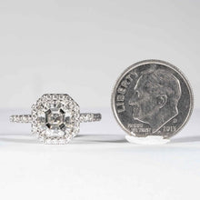 Load image into Gallery viewer, 2.07 carat J SI1 Asscher Cut Diamond Platinum Halo Ring (GIA Certified) - ENGAGEMENT Boston