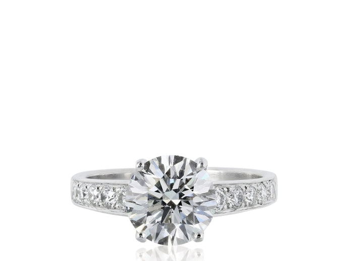 2.11ctw Round Diamond Solitaire Ring (GIA Certified Platinum) - ENGAGEMENT Boston