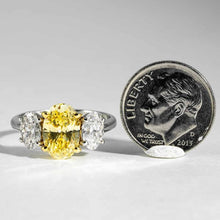 Load image into Gallery viewer, 2.12ct Fancy Intense Yellow Diamond Ring - ENGAGEMENT Boston