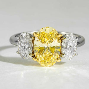 2.12ct Fancy Intense Yellow Diamond Ring - ENGAGEMENT Boston