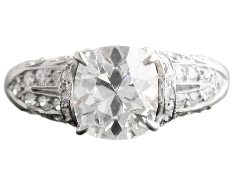 2.15 Carat Cushion Cut Diamond Engagement Ring - Jewelry Boston