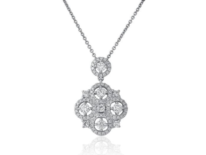 2.15 Carat Diamond Open Work Pendant - Boston