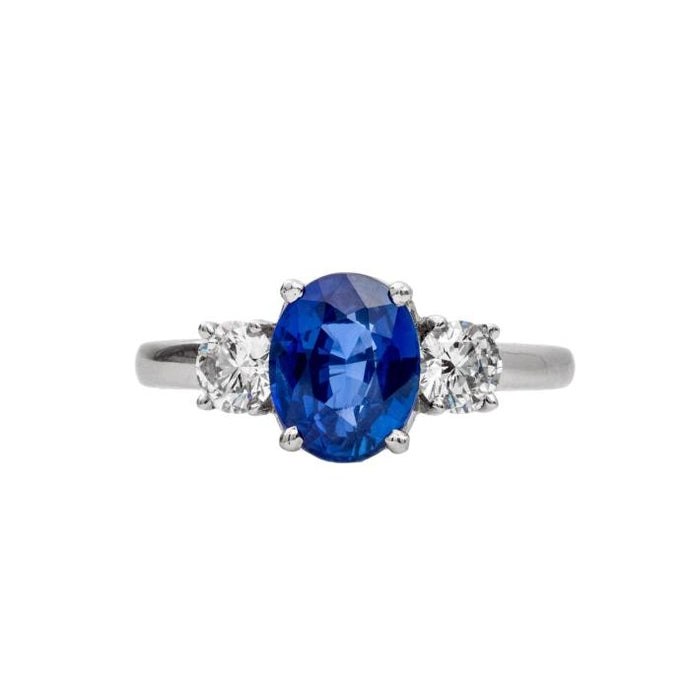 2.23CTW Sapphire RIng (Platinum) - JEWELRY Boston
