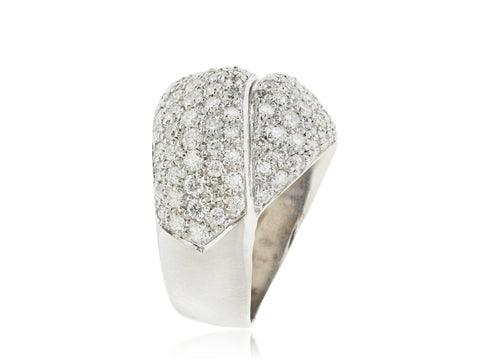 2.48ctw Diamond Knot Ring (White Gold) - JEWELRY Boston