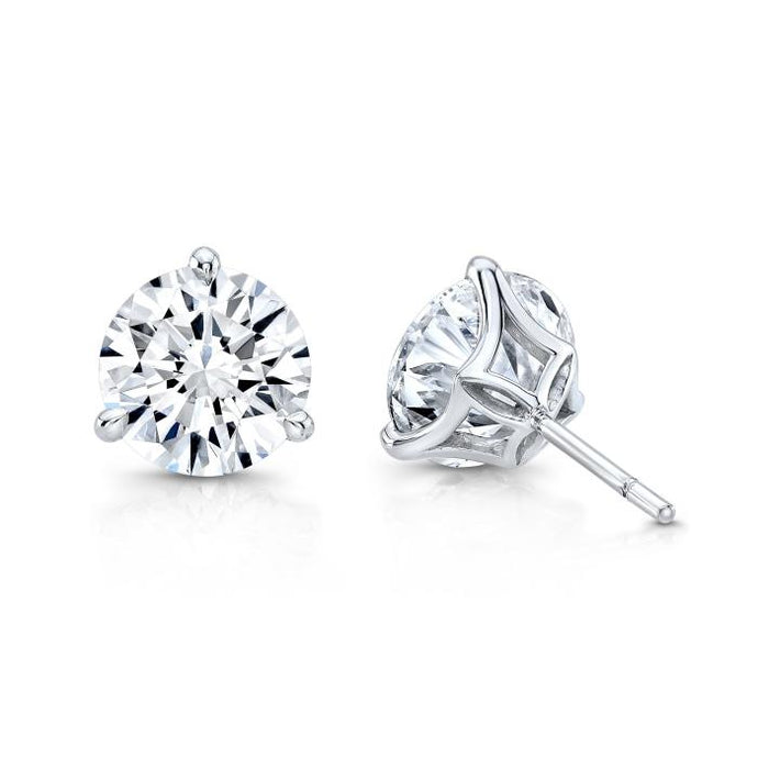 2.60 Carat I/VS2 Round Diamond Studs (White Gold) - Boston