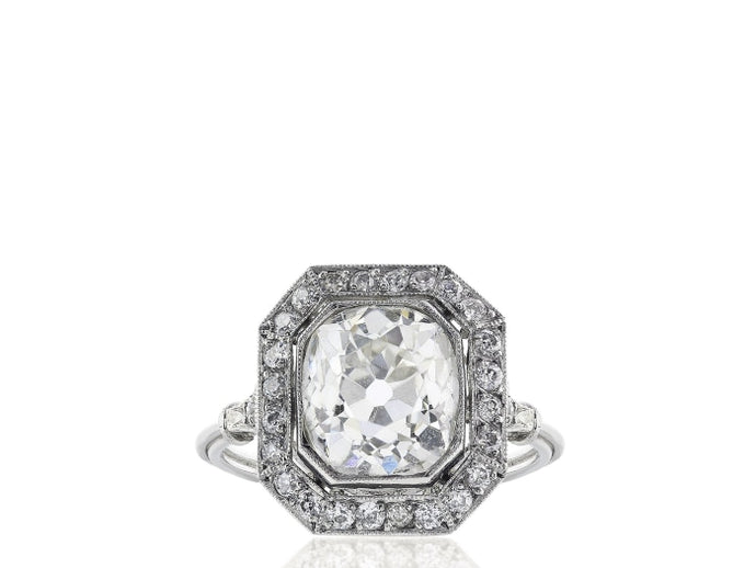 2.78ctw Old European Cut Diamond Ring (Platinum) - ENGAGEMENT Boston