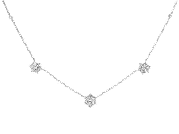 2.79 Carat Floral Motif Diamond Necklace - Jewelry Boston