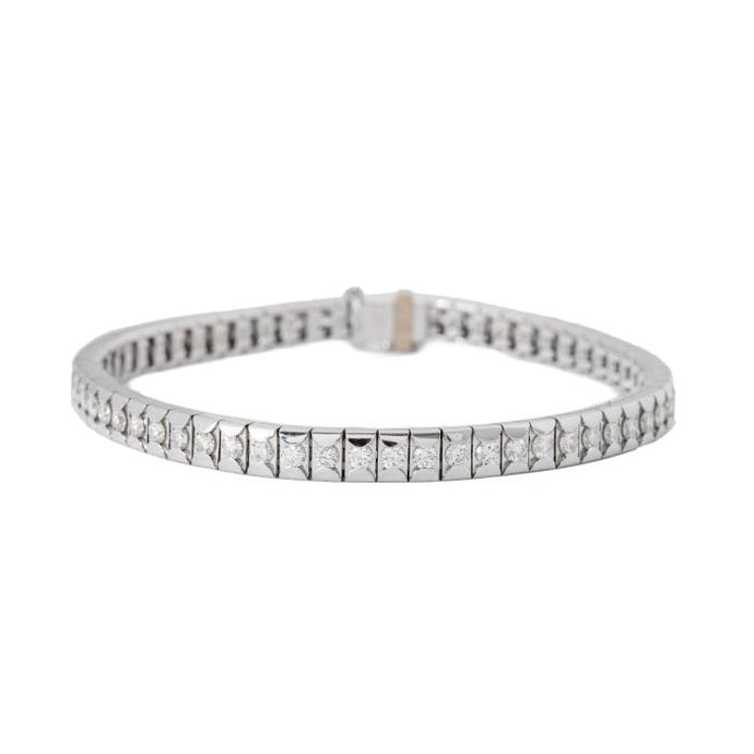 2.92ct Diamond Straight Line Bracelet - Boston