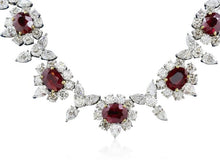 Load image into Gallery viewer, 20.00ct Burma Ruby & Diamond Necklace (Platinum) - JEWELRY Boston
