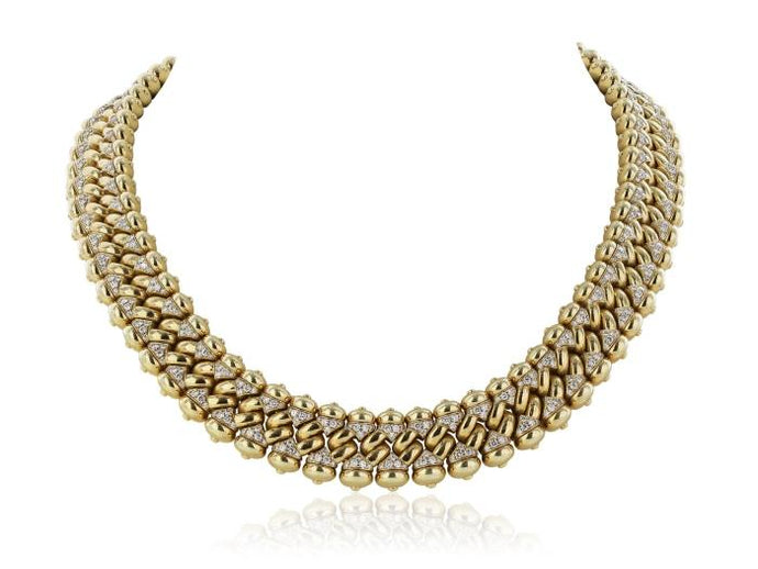 18 kt yg diamond 20 ct Bulgari necklace - JEWELRY Boston
