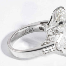 Load image into Gallery viewer, 22.02 carat J VS2 Emerald Cut 3-Stone Diamond and Platinum Ring (GIA Certified) - ENGAGEMENT Boston