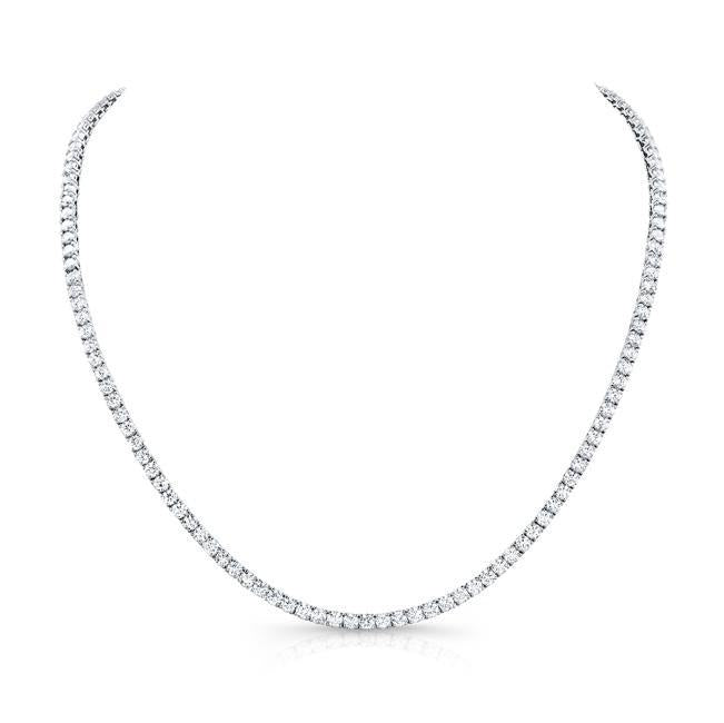 23.17ctw Round Diamond Rivera Necklace 31 (White Gold) - Jewelry Designers Boston