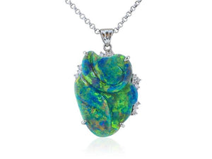 24.97 Carat Black Opal Pendant - Boston