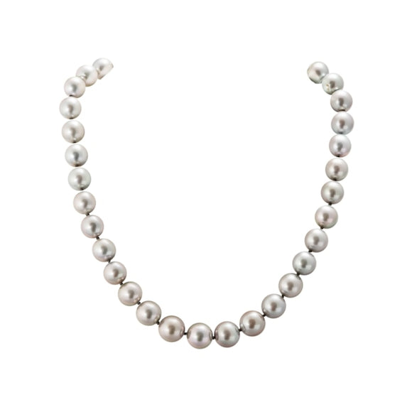 24 Inch Natural Platinum South Sea Pearl Necklace - Boston
