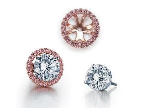.24ctw Diamond Jackets (Rose Gold) - JEWELRY Boston
