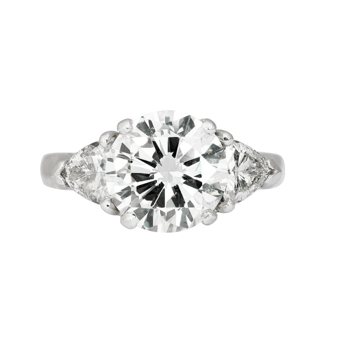 3.03ct Round Brilliant 3-Stone Diamond Ring (Platinum) - ENGAGEMENT Boston