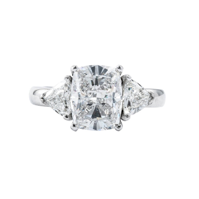3.05ct Cushion Cut Diamond Ring (Platinum GIA Certified) - ENGAGEMENT Boston