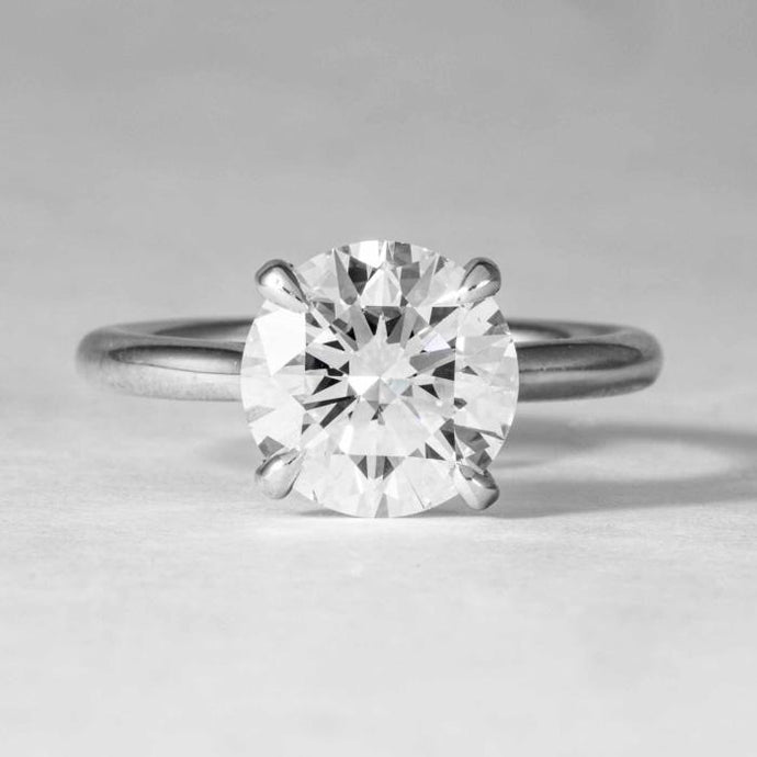 3.23CT Round Diamond J/VS1 GIA Soltaire Ring - Boston