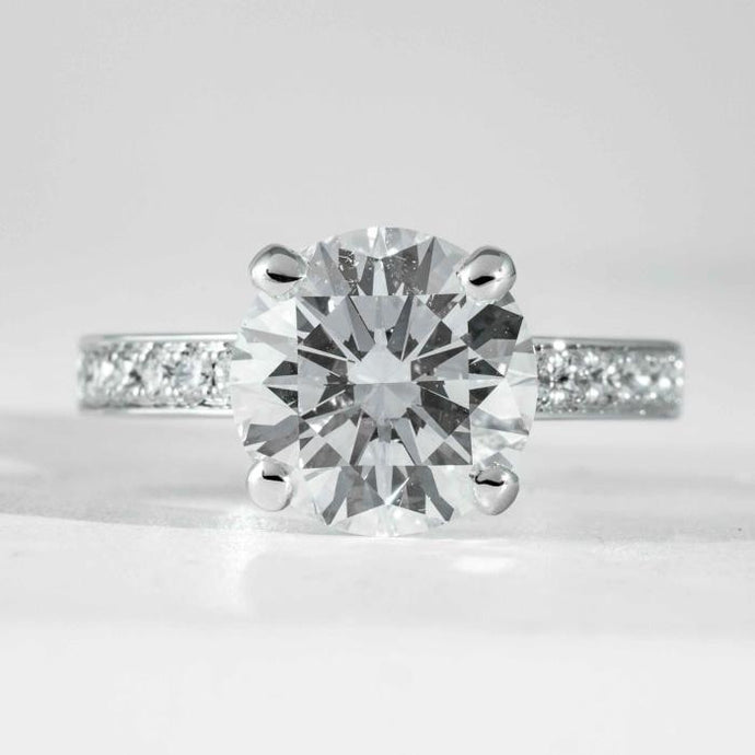 18 kt wg RBC Diamond 3.45 Carat GIA G VS2 solitaire engagement ring - ENGAGEMENT Boston