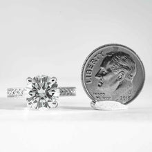 Load image into Gallery viewer, 18 kt wg RBC Diamond 3.45 Carat GIA G VS2 solitaire engagement ring - ENGAGEMENT Boston