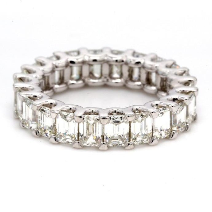 3.50ctw Emerald Cut Diamond Eternity Band (Platinum) - JEWELRY Boston