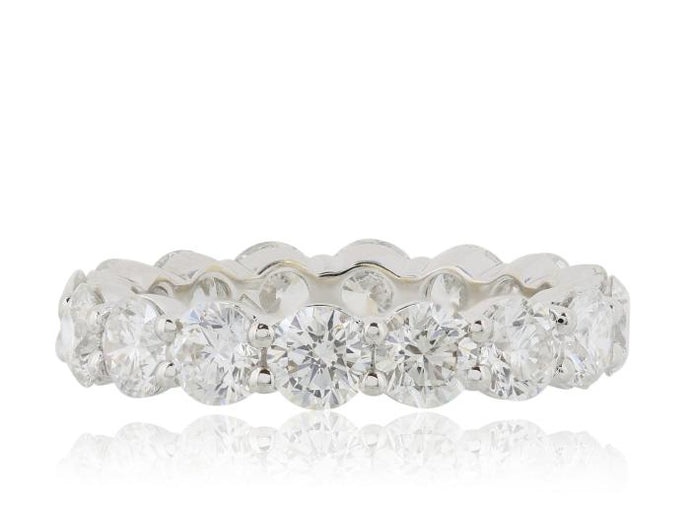 3.83ctw Round Brilliant Cut Diamond Eternity Band (White Gold) - JEWELRY Boston