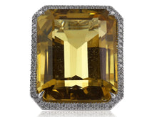 Load image into Gallery viewer, 30 Carat Citrine Ring Signed Tiffany & Co. - Jewelry Boston
