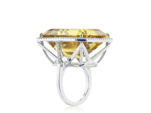 30 Carat Citrine Ring Signed Tiffany & Co. - Jewelry Boston