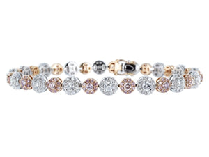 4.02 Carat Natural Pink Diamond Bracelet - Jewelry Boston