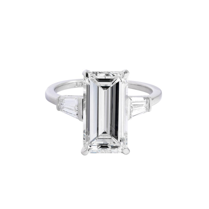 4.21ct Emerald Cut Diamond Ring (GIA Certified Platinum) - ENGAGEMENT Boston