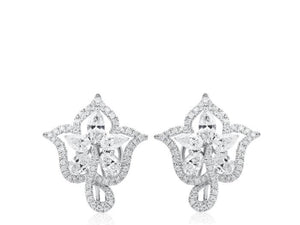 4.32ct Open Work Diamond Clip Earrings - JEWELRY Boston