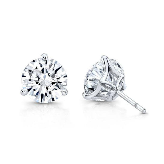 4.44CTW Round Diamond Stud Earrings - Jewelry Designers Boston