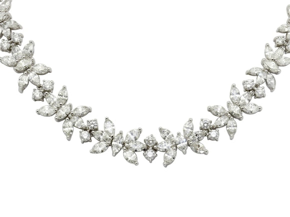 46 Carat Fancy Shape Diamond Necklace - Jewelry Boston