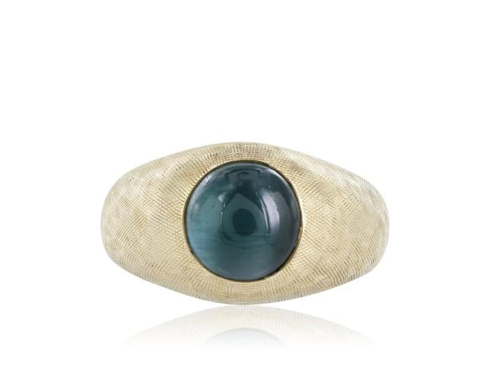 5 Carat Cats Eye Tourmaline Ring - Jewelry Boston