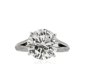 5.02 Carat Gia Round Brilliant Diamond Engagement Ring - Jewelry Boston