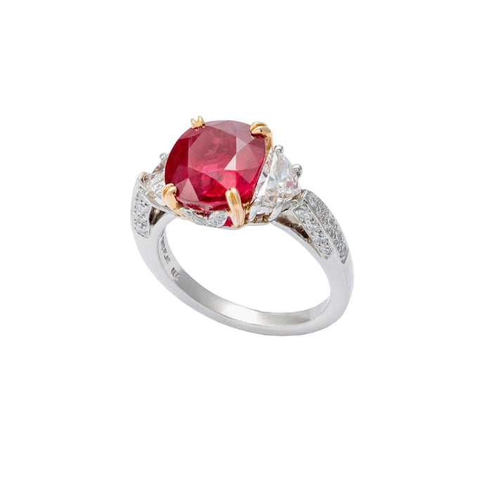 5.05 CTW Ruby Ring (Platinum) - JEWELRY Boston