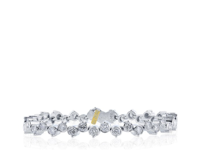5.08 Carat Diamond Bracelet (White Gold) - Jewelry Boston