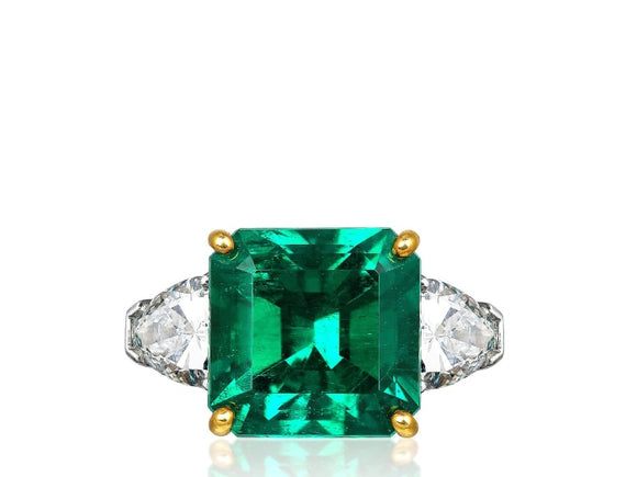 5.72 Carat Colombian Emerald Ring - Jewelry Boston