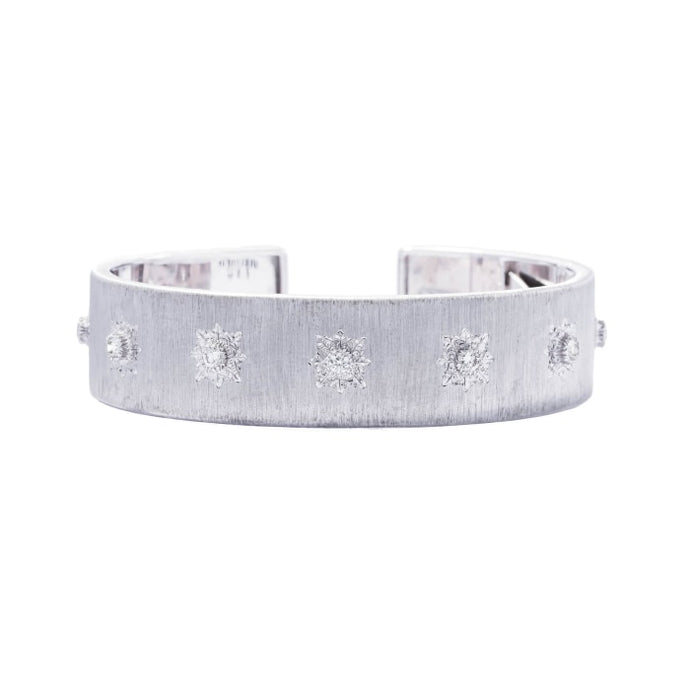 .50 Carat Buccellati Diamond Cuff (18k White Gold) - Boston