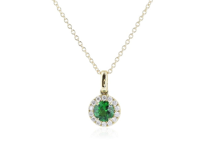 .50 Carat Tsavorite & Diamond Pendant - Jewelry Boston
