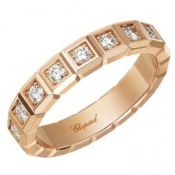 Chopard 0.11 Carat Ice Cube Ring (Rose Gold) - Jewelry Designers Boston