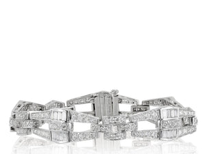 6.08ct Art Deco Style Diamond Bracelet (Platinum) - Boston
