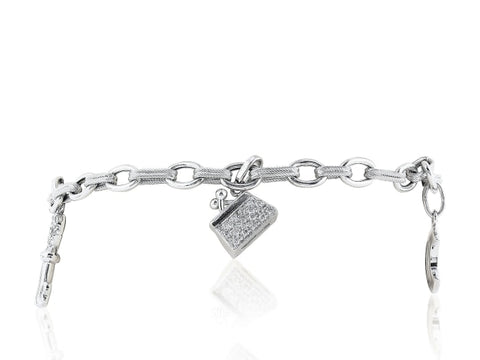 .60 Carat Diamond Charm Bracelet - Jewelry Boston