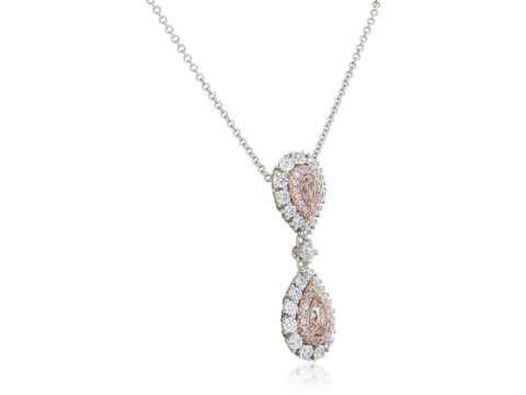 .65 Carat Pink Diamond Pendant (18K Two Tone Gold) - Jewelry Boston