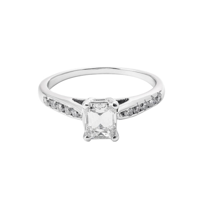 .67ct Emerald Cut Diamond Ring (H/VS1 14k White Gold) - ENGAGEMENT Boston