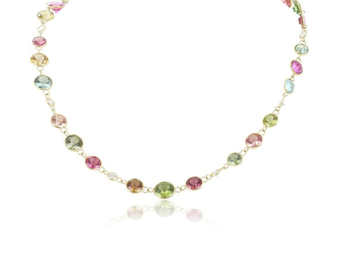68.10 Carat Rainbow Tourmaline By-The-Yard Necklace - Jewelry Boston