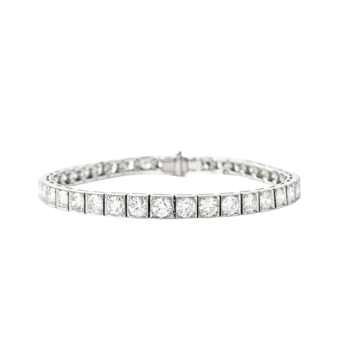 7.07ctw Diamond Tennis Braclet (Platinum) - JEWELRY Boston