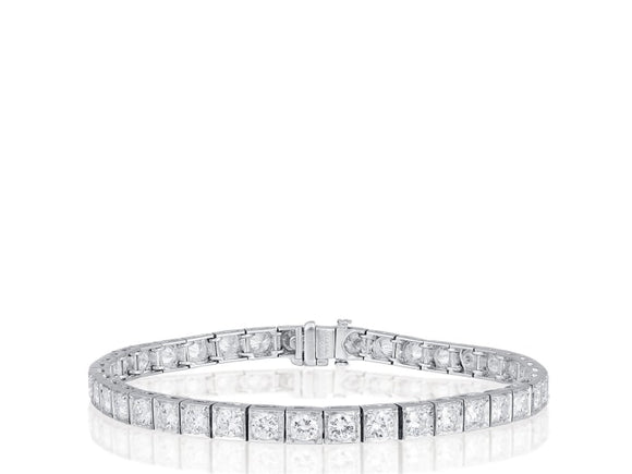 7.50 Carat Diamond Tennis Bracelet (Platinum) - Jewelry Boston